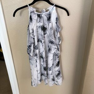 Urban Outfitters cold shoulder ruffle shift dress